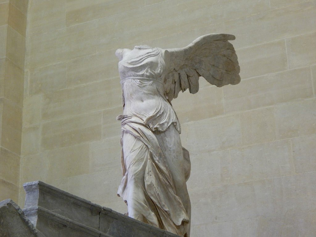 Considered one of the oldest and most influential marble statues in the world, The Winged Victory was discovered in 1863 on the island of Samothrace and is now considered one of Louvre's top three most important pieces.