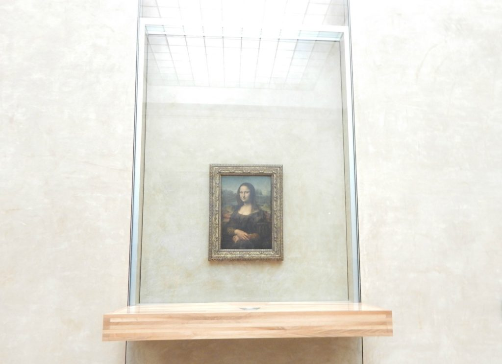 Mona Lisa, the most famous artwork on display in the Louvre Museum and a must see in the Louvre