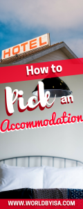 pick an accommodation