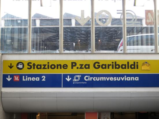 Taking the Circumvesuviana line to get to Pompeii from Naples