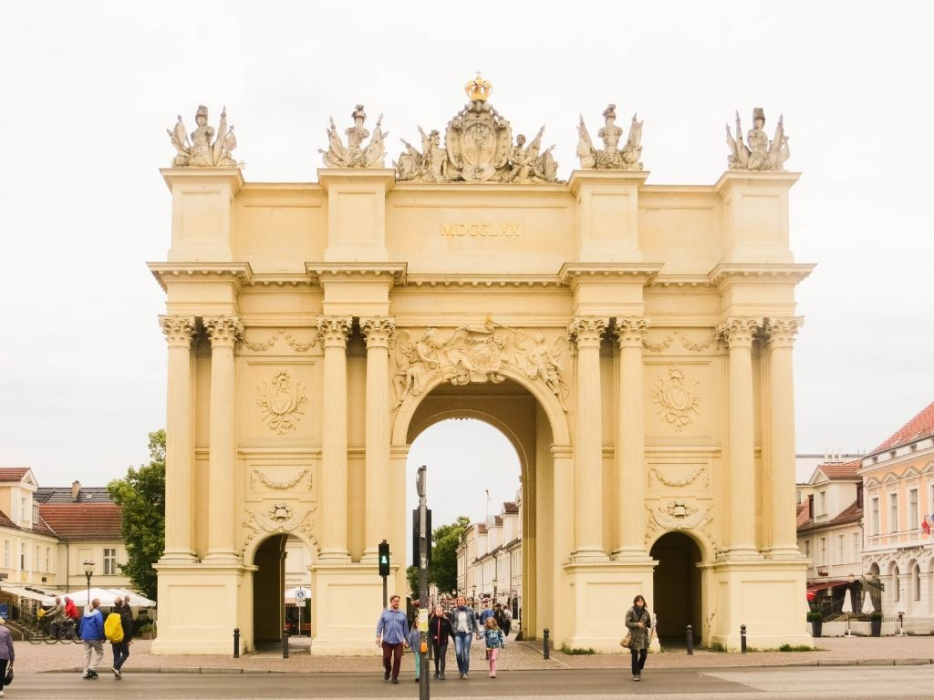The Brandenburg Gate is perhaps Potsdam's most well-known gate and often thought to be a replica of the gate with the same name in Berlin.