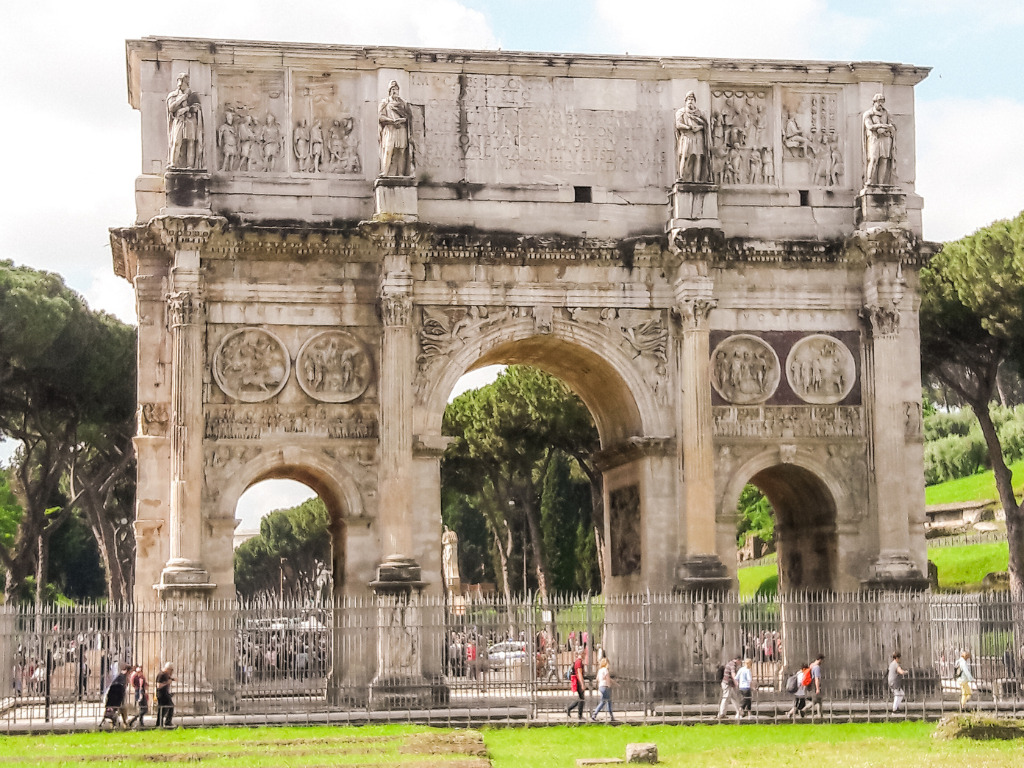 Arch of Titus. The arch commemorates the victory of Titus and his father over the Jewish rebellion in Judaea, it was erected by Titus' brother in 81AD and marks Titus deification.
